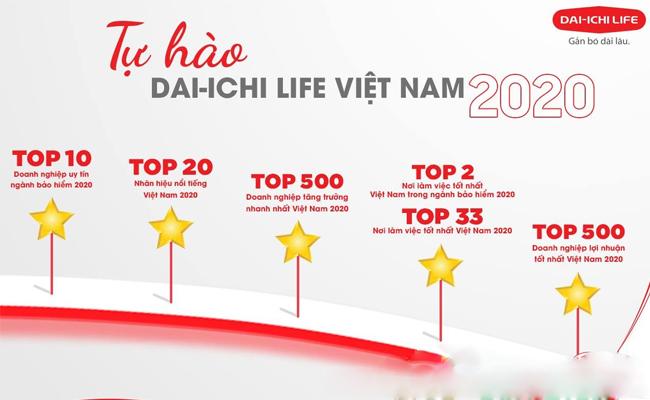 Thành tự của Bảo hiểm Đai Ichi Việt Nam