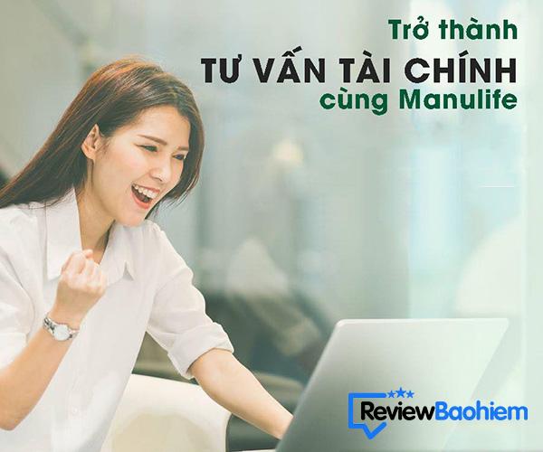 Manulife tuyển dụng đại lý bảo hiểm nhân thọ lương 10-30tr