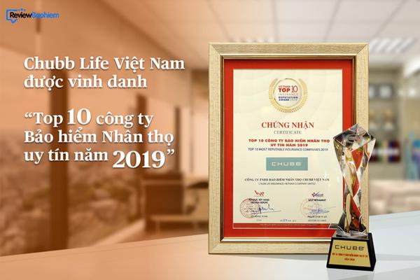 Các giải thưởng của bảo hiểm Chubb Life Việt Nam